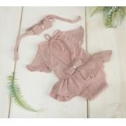 Body Vestido Cecília Newborn Rosa Fascinação