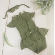 Body Vestido Cecília Verde musgo