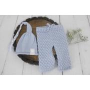 Calça e Touca Sonequinha Newborn Azul bebê