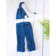 Calça e Touca Sonequinha Newborn Azul França