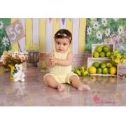 Macacão Joy Acompanhamento Amarelo Bebê