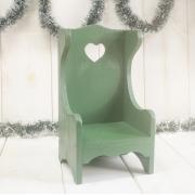 Trono Coração Verde pinheiro Pátina