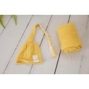 Wrap Soft e Touca Sonequinha Amarelo Narciso