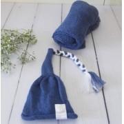 Wrap Soft e Touca Sonequinha Azul Tirreno
