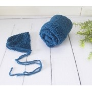 Wrap Textura e Touca Azul França