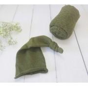 Wrap Textura e Touca Soneca Militar