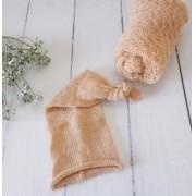 Wrap Textura e Touca Soneca Pêssego