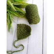 Wrap Textura e Touca Verde musgo