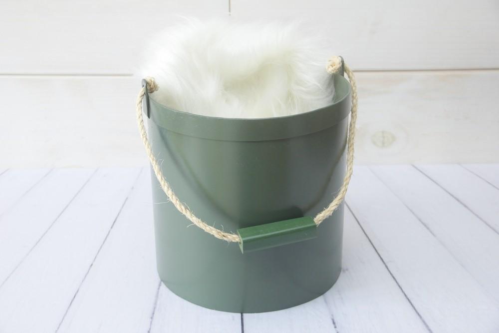 Baldinho Metal com corda Verde Pinheiro