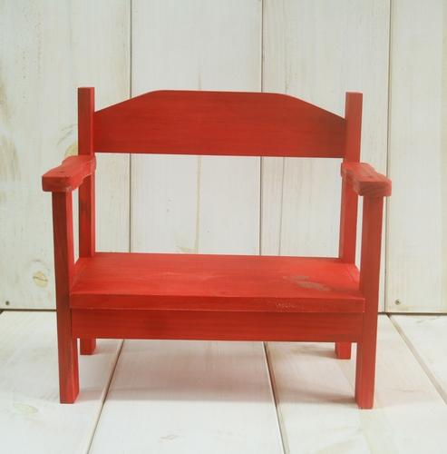 Banquinho Joy Vermelho Pátina