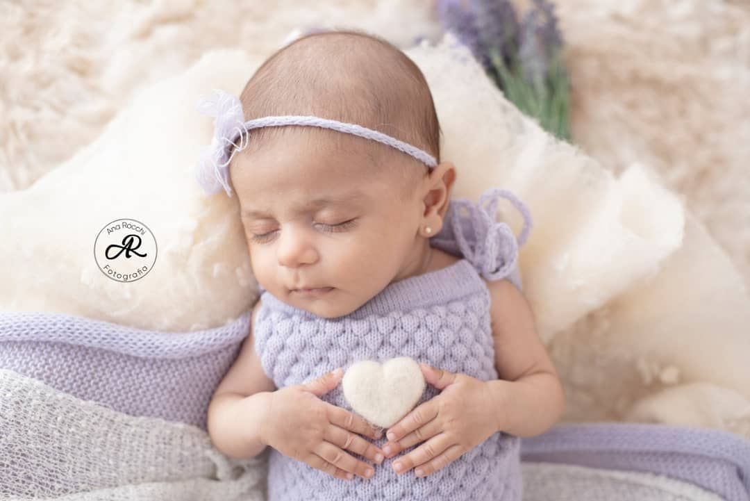 Body Alcinha e Headband Newborn Lilás