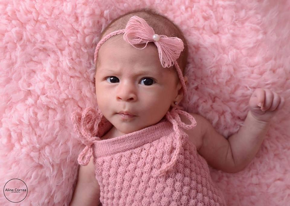 Body Alcinha e Headband Newborn Rosa chá