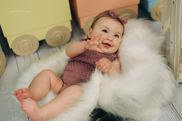 Body Alcinha e Headband Newborn Rosa seco