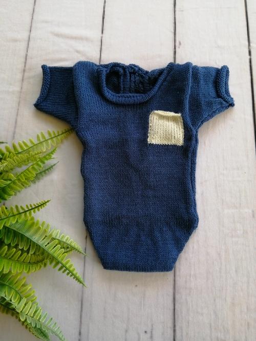 Body Bolso Júnior Newborn Azul Tirreno
