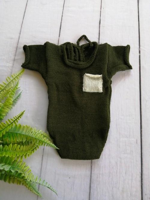 Body Bolso Júnior Newborn Militar