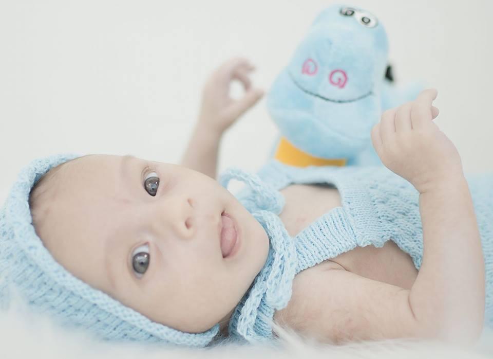 Body Boy e Touca Azul bebê