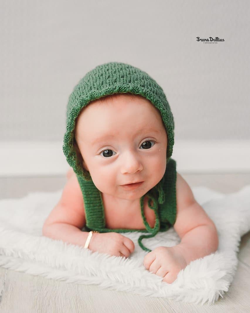 Body Boy e Touca Verde musgo