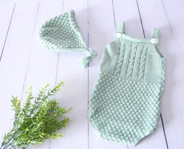 Body Boy Newborn Verde Platina