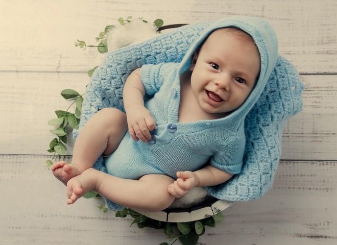 Body Capuz Newborn Azul Bebê