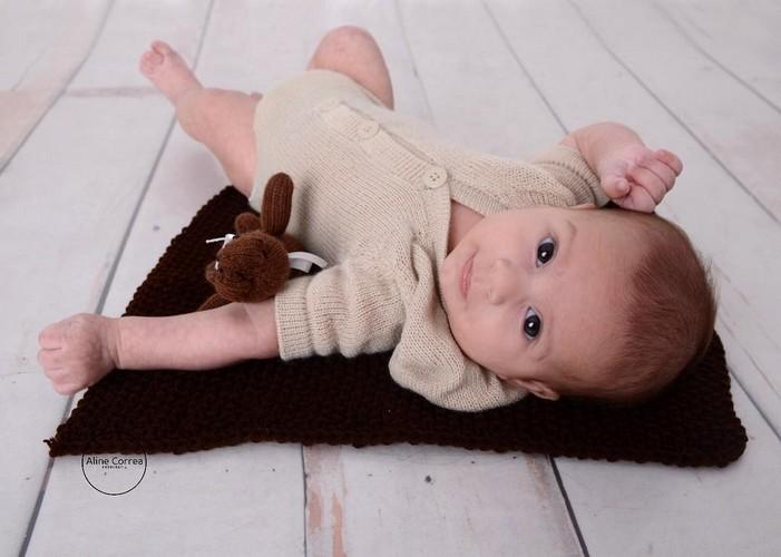 Body Capuz Newborn Bege