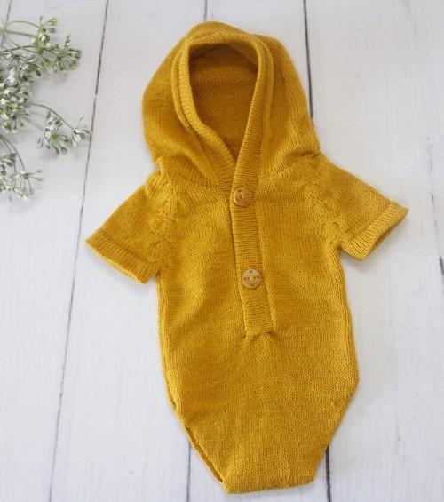 Body Capuz Newborn Mostarda
