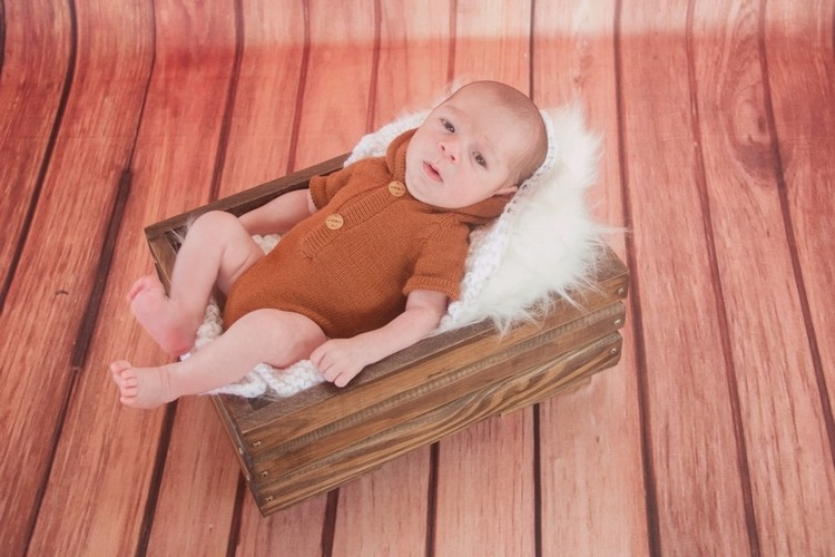 Body Capuz Newborn Terracota