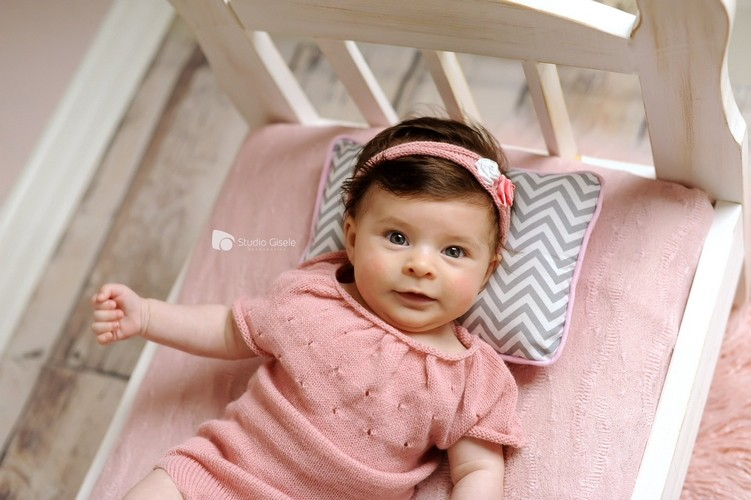 Body Chanel e Headband Newborn Rosa chá