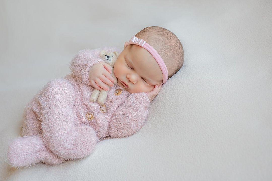 Body Jolie Angorá Newborn Rosa