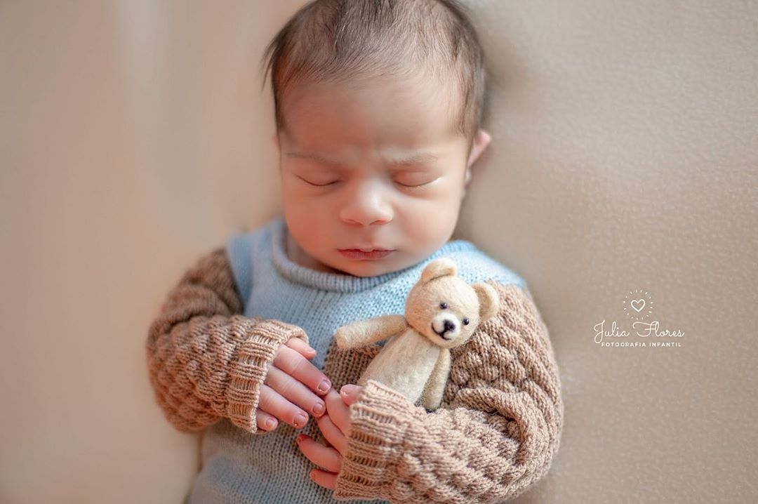 Body Miguel e Touca Newborn Azul