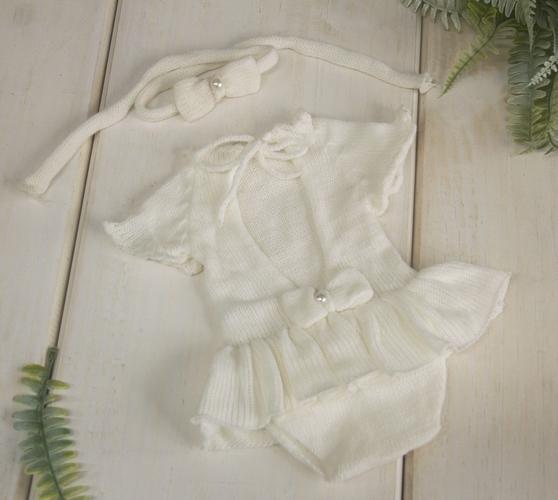 Body Vestido Cecília Newborn Creme