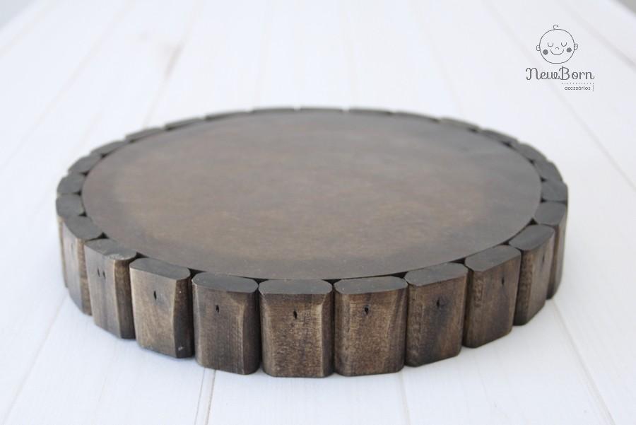 Bolacha de madeira envelhecida