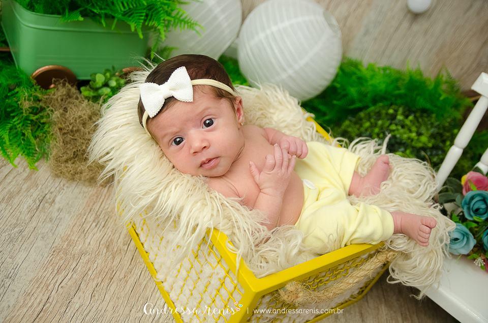 Caixinha de Ferro Newborn Amarela