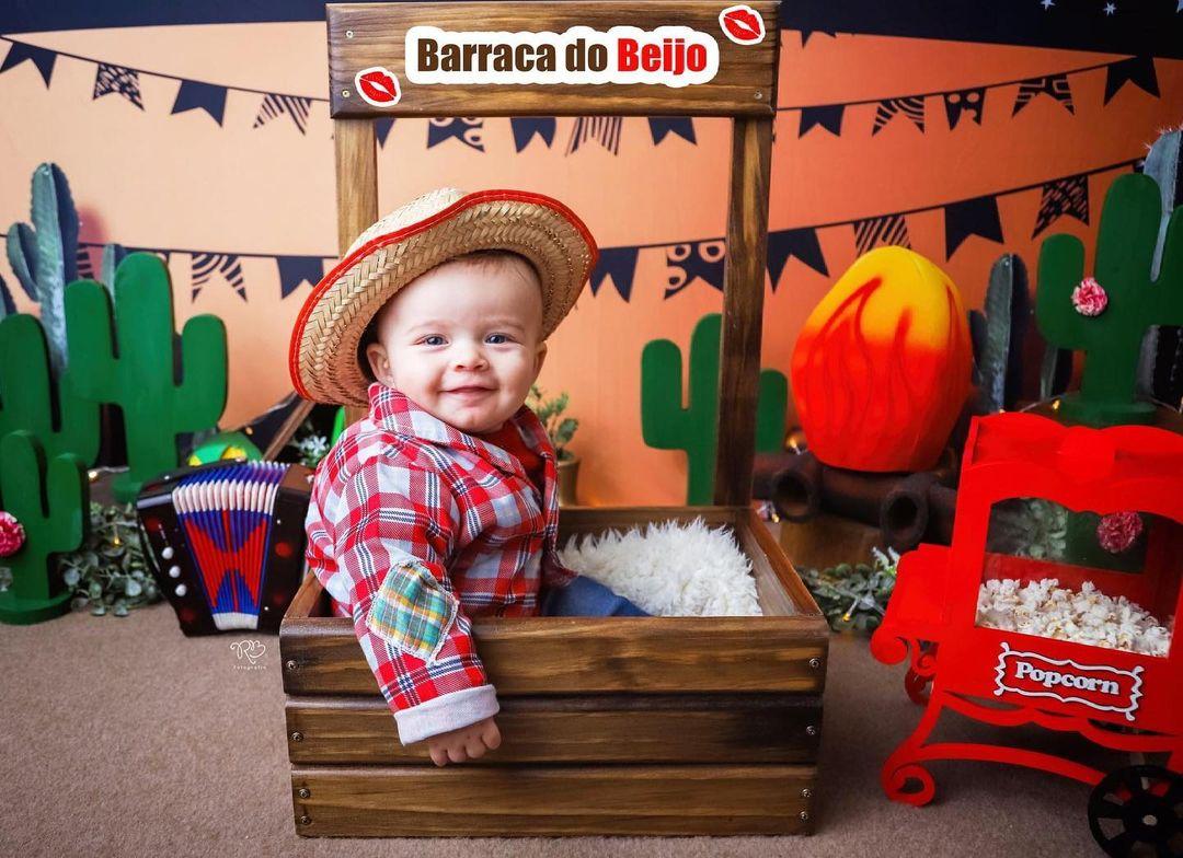 Caixote Barraquinha Festa Junina / Limonada / Flores
