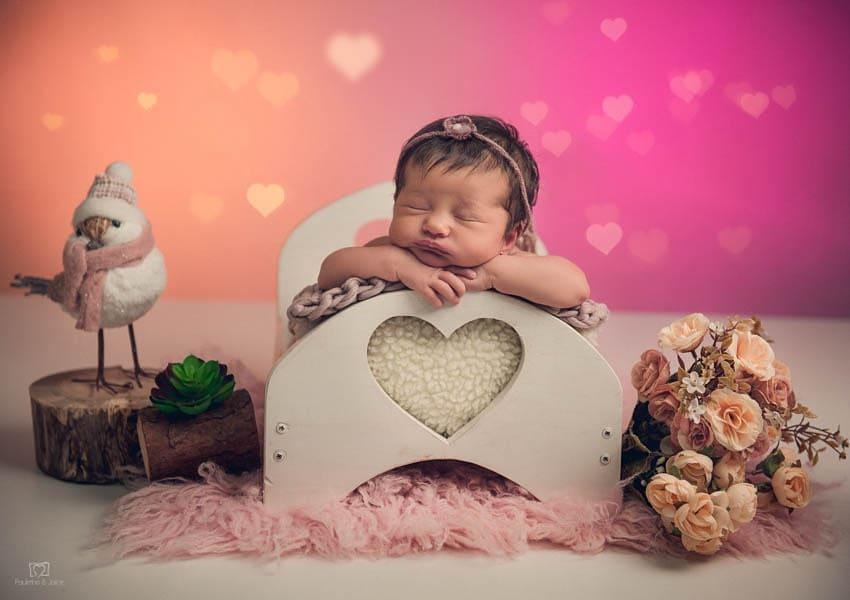 Caminha Coração Branco Pátina Newborn E Acompanhamento