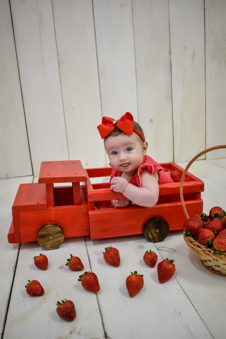 Caminhão de Madeira Vermelho Pátina