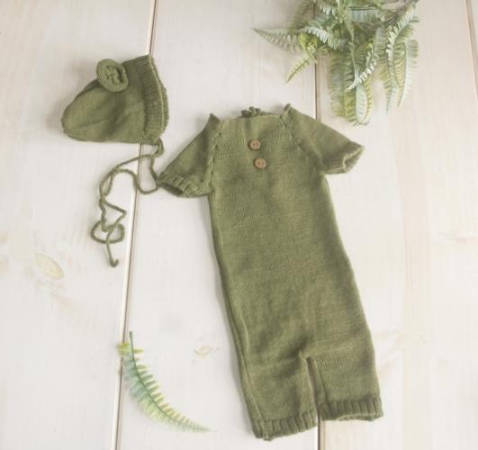 Conjunto Ursinho Acompanhamento Verde musgo