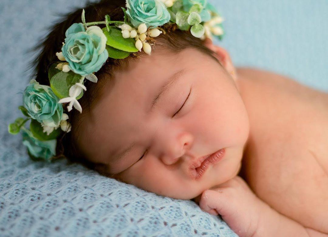 Manta Tricô Dupla-face para Puff Azul Bebê