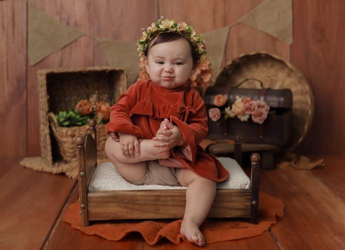 Mini Cama Envelhecida Newborn e Acompanhamento do Bebê