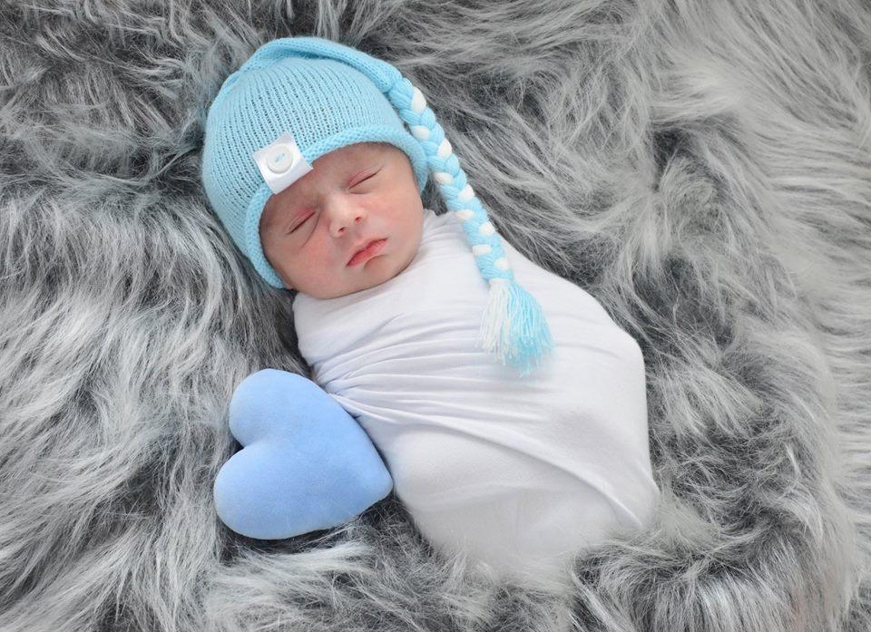 Touca Sonequinha Newborn Azul bebê