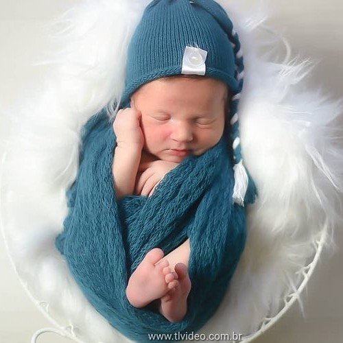 Touca Sonequinha Newborn Azul França