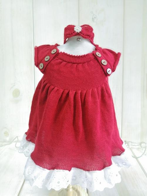 Vestido Malu Bordô