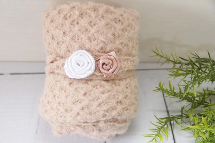 Wrap e Headband Mohair Rosa
