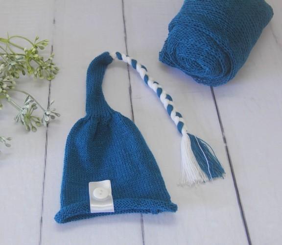 Wrap Soft e Touca Sonequinha Azul França