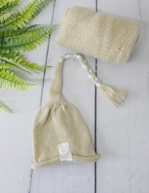 Wrap Soft e Touca Sonequinha Bege