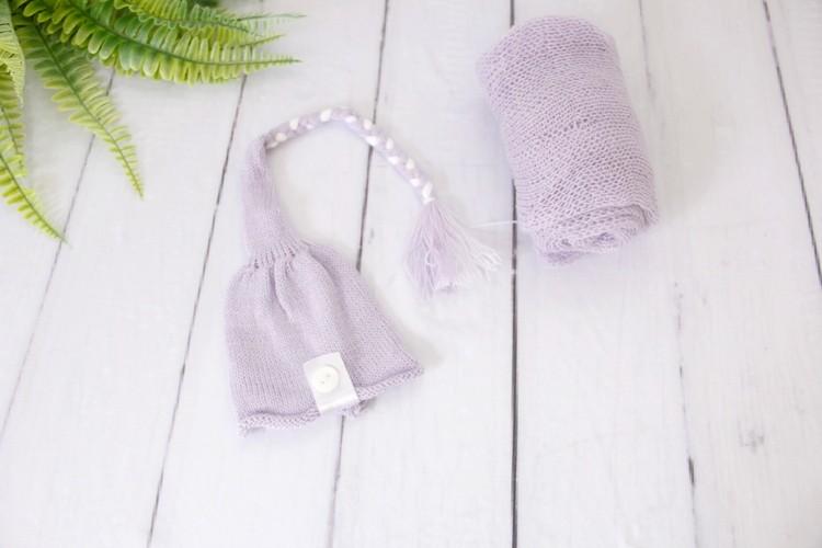 Wrap Soft e Touca Sonequinha Lilás