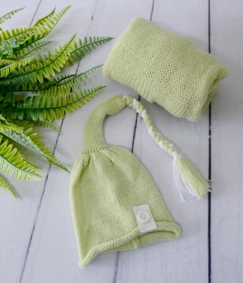 Wrap Soft e Touca Sonequinha Verde aloe