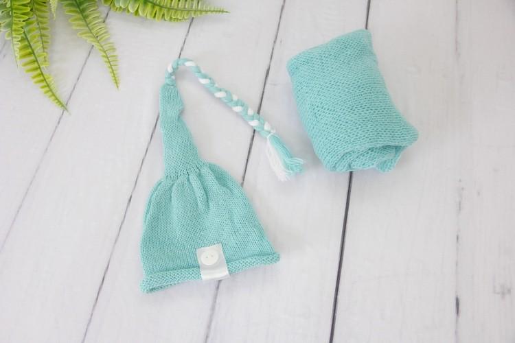 Wrap Soft e Touca Sonequinha Verde menta