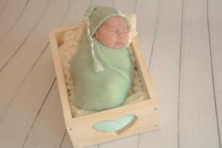 Wrap Soft e Touca Sonequinha Verde Platina