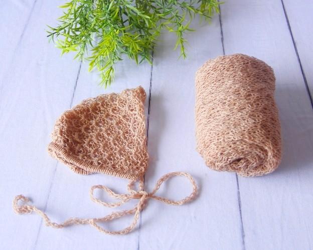 Wrap Textura e Touca Castor