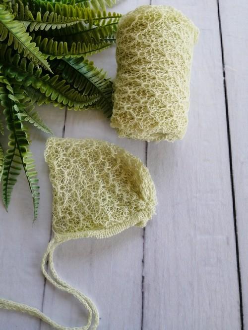 Wrap Textura e Touca Verde Aloe